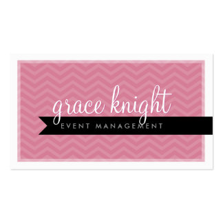 CORPORATE modern simple chevron rose pink Pack Of Standard Business Cards