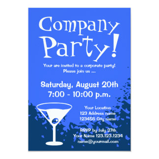 "Corporate party invitations | Company invites 5"" X 7"" Invitation Card"