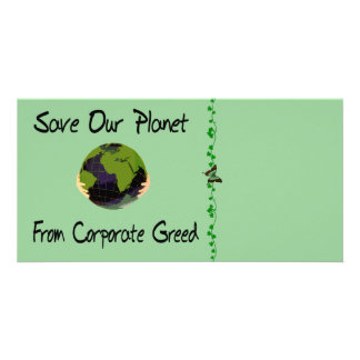 Corporate Planet Photo Greeting Card