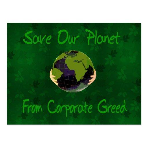 Corporate Planet Postcard