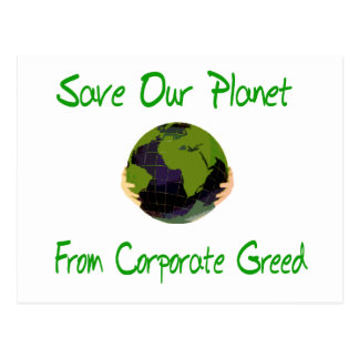 Corporate Planet Postcard