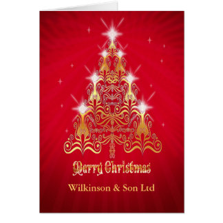 Corporate, Stylized Christmas tree Christmas card