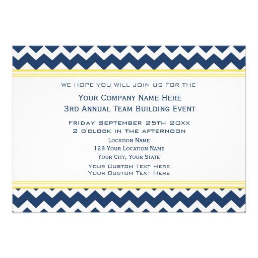 Corporate Team Building Event Invitation Blue