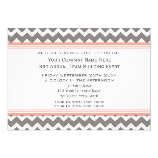 Corporate Team Building Event Invitation Grey