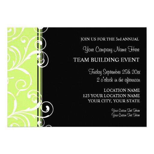 Corporate Team Building Event Invitations Green