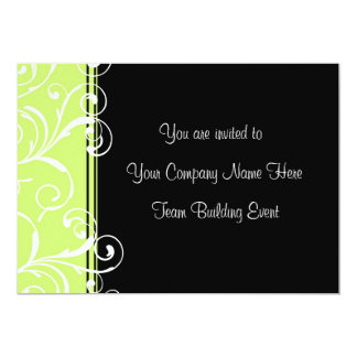 "Corporate Team Building Event Invitations Green 5"" X 7"" Invitation Card"