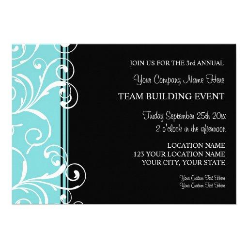 Corporate Team Building Event Invitations Teal
