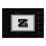 Corporate Thank You Template Card, Black and White