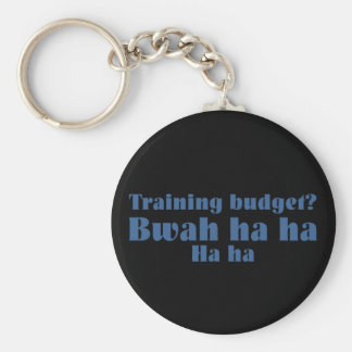 Corporate Training Budget Basic Round Button Key Ring