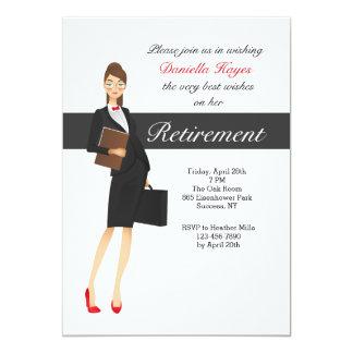 Corporate Woman's Retirement Party Invitation