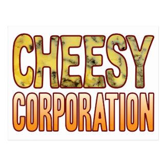 Corporation Blue Cheesy Postcard