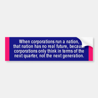 Corporations Bumper Sticker
