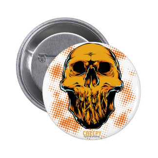 Corpse Head Pinback Button