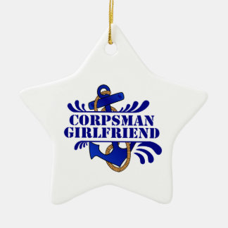 Corpsman Girlfriend, Anchors Away! Ceramic Star Decoration
