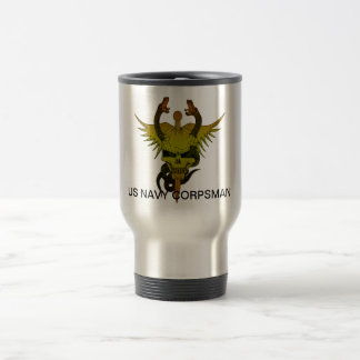 Corpsman up travel mug