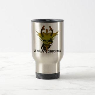 Corpsman up travel mug