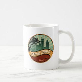 Corpus Christi City Skyline Retro Vintage Mug