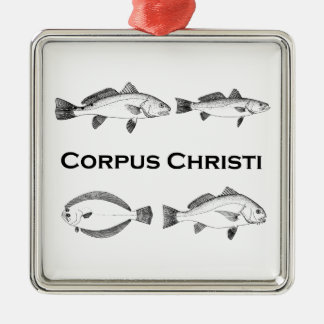 Corpus Christi Fishing  - Saltwater Fish Metal Ornament