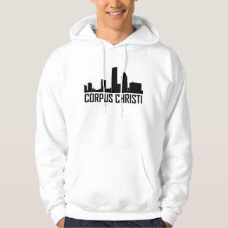 Corpus Christi Texas City Skyline Hoodie