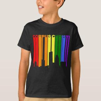 Corpus Christi Texas Gay Pride Rainbow Skyline T-Shirt