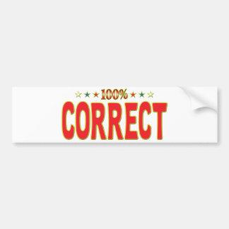 Correct Star Tag Bumper Stickers