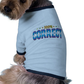 Correct Star Tag v2 Doggie Tshirt