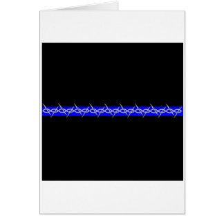 Corrections Barbed Wire Blue Line Card