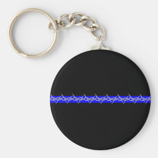 Corrections Barbed Wire Blue Line Key Ring