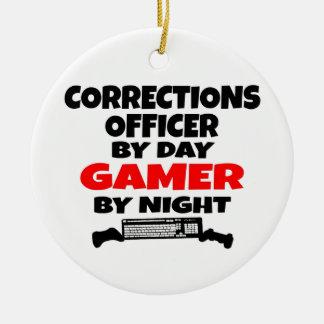 Corrections Officer Gamer Ceramic Ornament