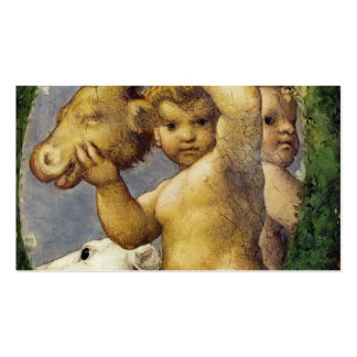 Correggio- Putto With Hunting Trophy Business Card Template