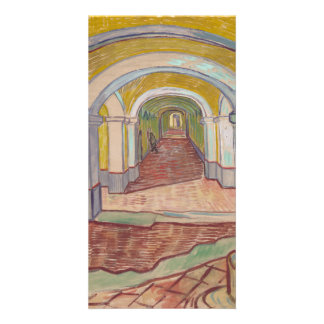 Corridor in the Asylum by Vincent Van Gogh Customised Photo Card