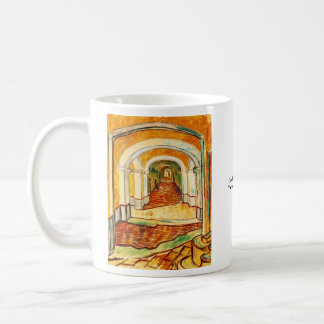 Corridor in the Asylum by Vincent van Gogh Basic White Mug