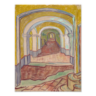 Corridor in the Asylum by Vincent Van Gogh Photo Print