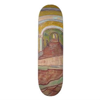Corridor in the Asylum by Vincent Van Gogh Custom Skateboard