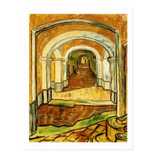 Corridor of Saint-Paul Asylum, Vincent van Gogh Postcard