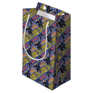 Corriente Cattle Mosaic Gift Wrap Collection Small Gift Bag