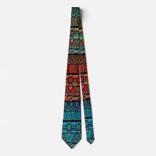 Corroboree Panel Aborigina Art Tie