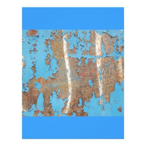 Corroded-metal1617 BLUE RUST TEXTURES METALS SHINY Custom Flyer