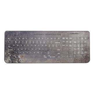 Corroded Metal Look custom name key board Wireless Keyboard