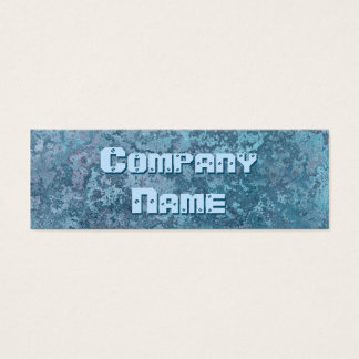 Corrosion blue print business card skinny