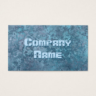 Corrosion blue print business card template
