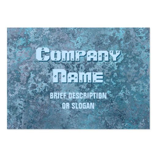 Corrosion blue print 'description' chubby business card