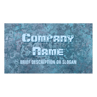 Corrosion blue print 'description' pack of standard business cards