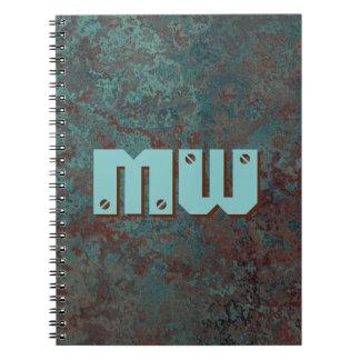 "Corrosion ""Copper"" Monogram print notebook"