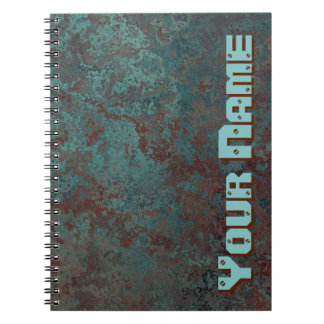 """Corrosion """"Copper"""" Name print notebook"""