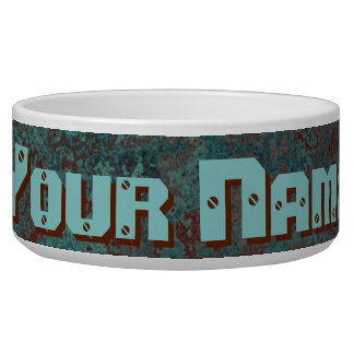 "Corrosion ""Copper"" Name print pet bowl"