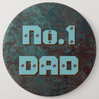 """Corrosion """"Copper"""" No.1 DAD print button 6 inch"""