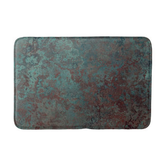 "Corrosion ""Copper"" print bath mat medium"