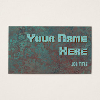 """Corrosion """"copper"""" print business card side text"""