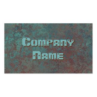 "Corrosion ""copper"" print business card template"